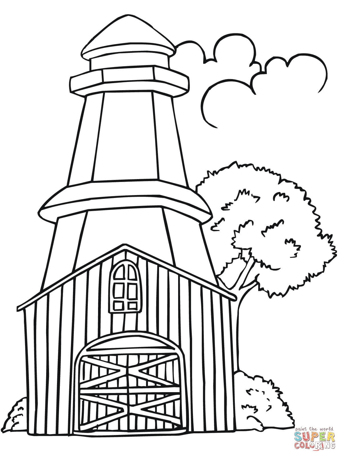1200x1600 Printable Lighthouse Coloring Pages Collection