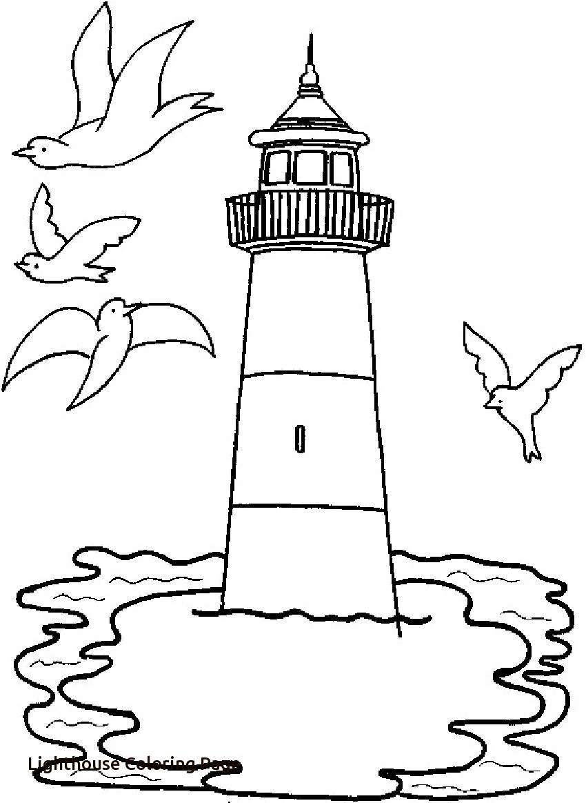 850x1164 Printable Lighthouse Coloring Pages With Page