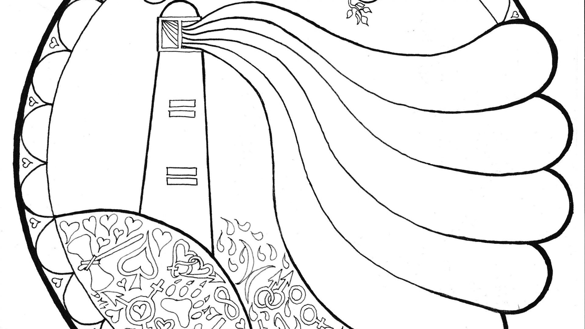 1920x1080 Stunning Lighthouse Coloring Pages With Beautiful Scenery Free