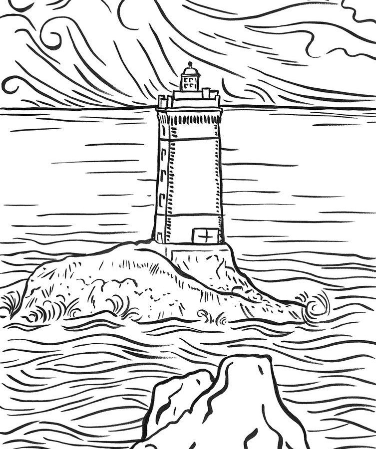 753x900 Terrific Printable Lighthouse Coloring Pages Free Kids Maine