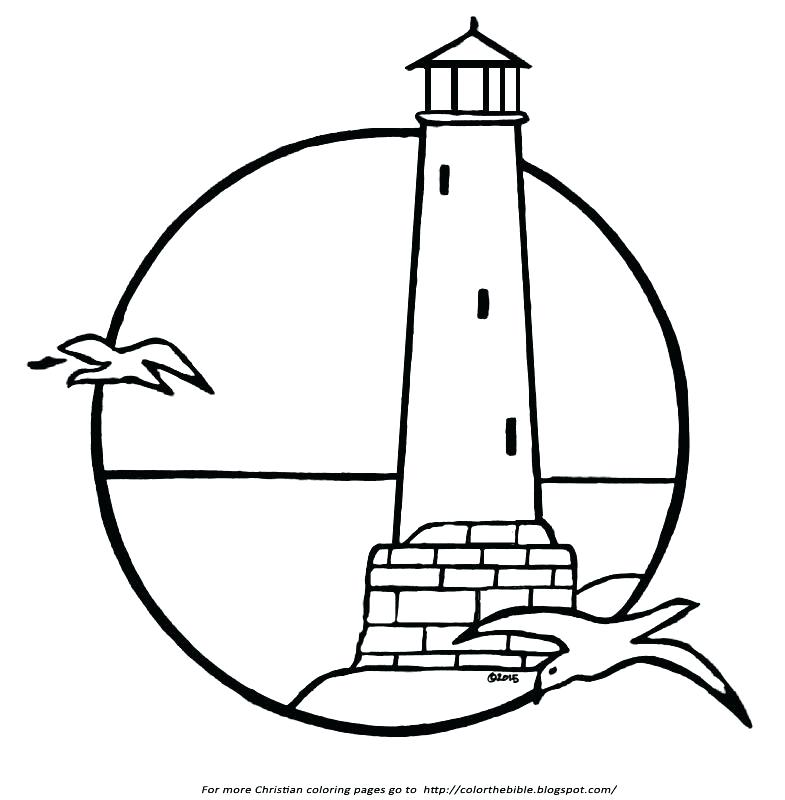 785x800 Lighthouse Coloring Pages