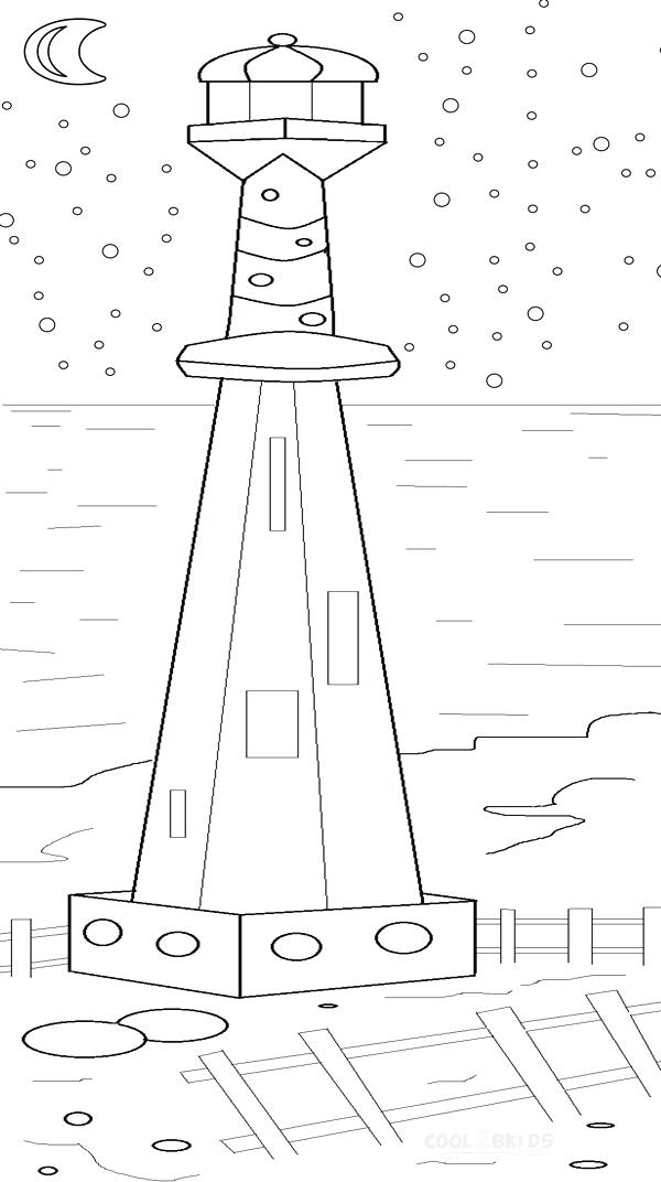 600x1072 Lighthouse Coloring Pages