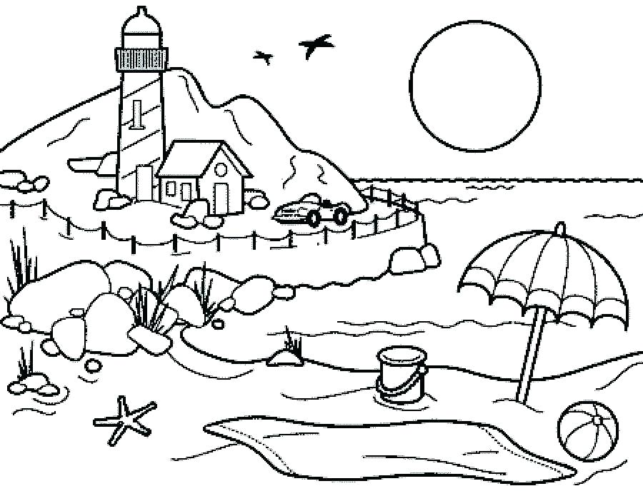 900x688 Free Printable Beach Coloring Pages Free Printable Beach Coloring