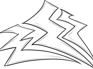 320x240 Lightning Coloring Pages Storm Lighting Bolt Coloring Page Color