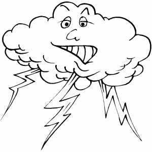 300x300 Lightning Coloring Page