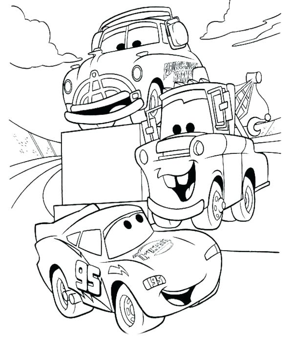 600x696 Lightning Mcqueen Coloring Pages Cars Printable Lightning