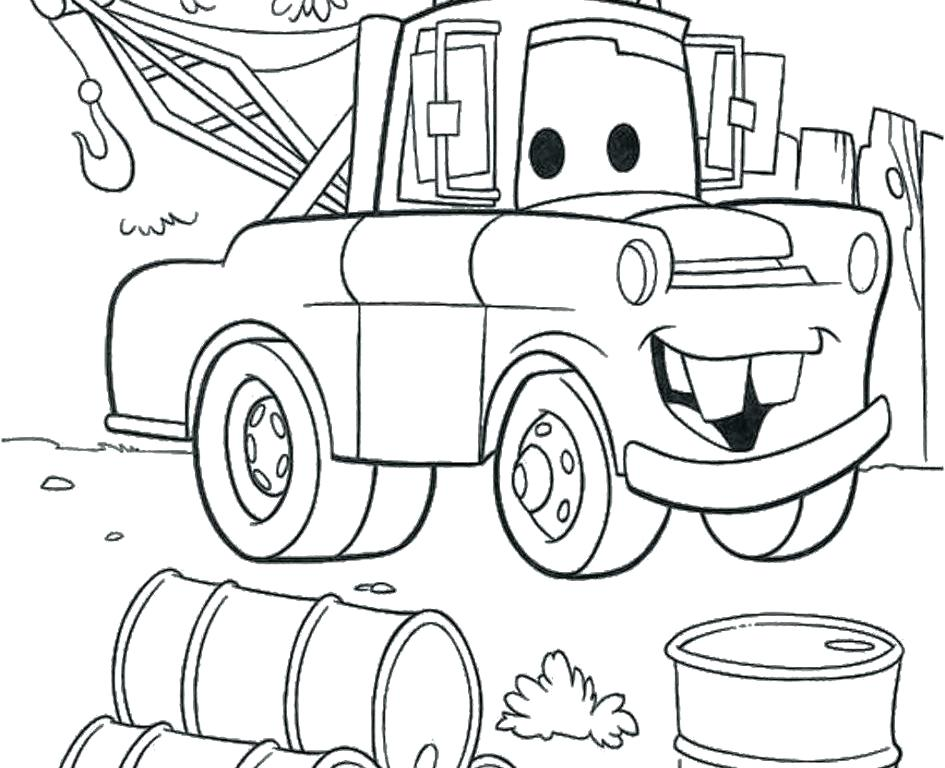 945x768 Lightning Mcqueen Coloring Pages Side View Printable Coloring