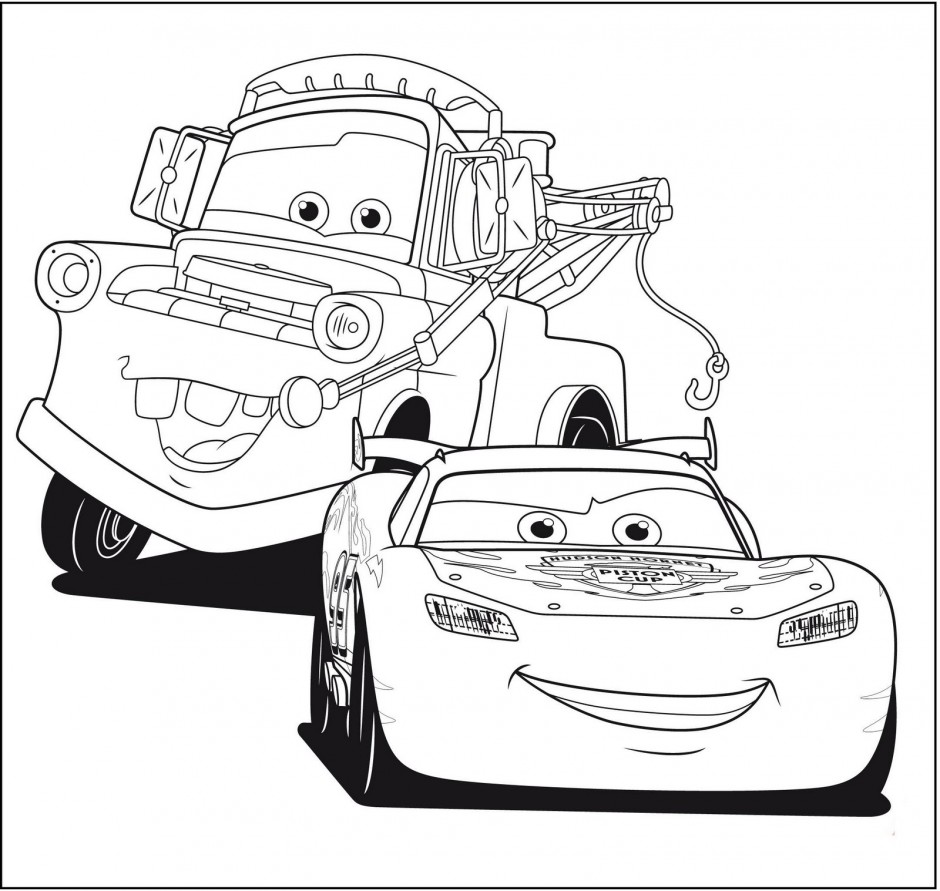 940x891 Disney Cars Lightning Mcqueen And Mater Coloring Pages