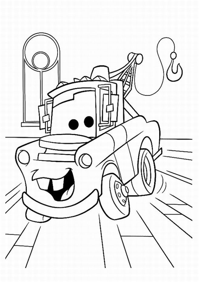 656x928 Disney Cars Mater Coloring Pages