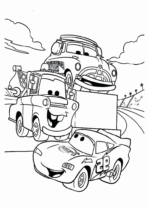 600x840 Lightning Mcqueen Coloring Pages Side View Sheets Free Cars