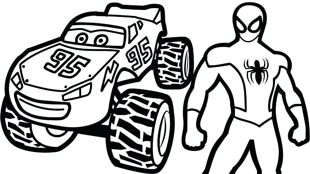 1024x576 Lightning Mcqueen Mater Coloring Pages Drawing Of Cartoon Mater