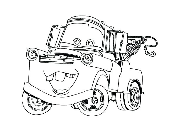 600x429 Mater Coloring Pages Cars Character Tow Mater Coloring Pages Color