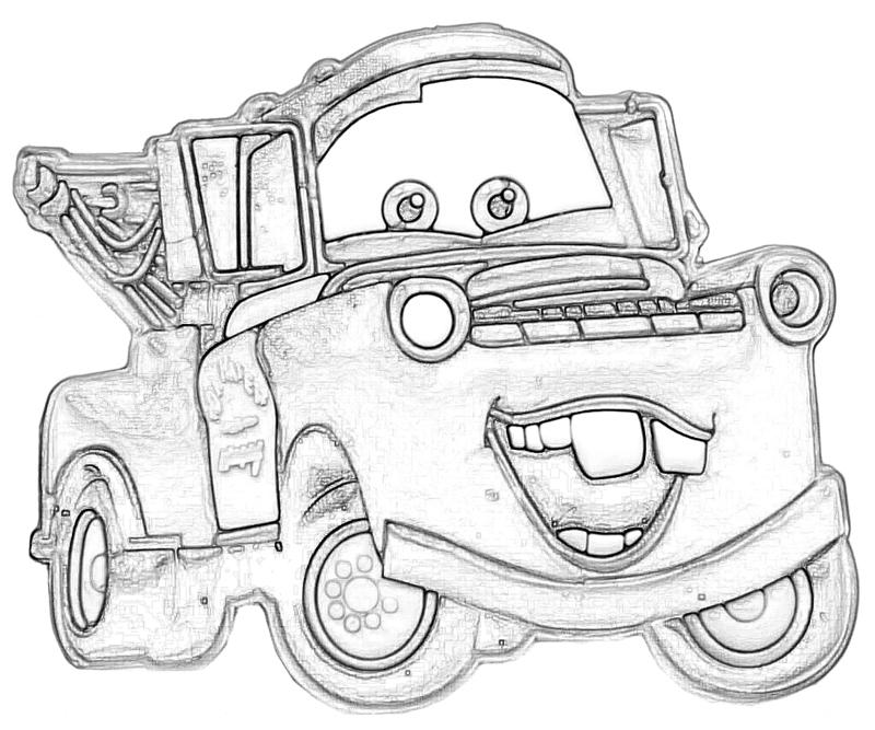 800x667 Mater Coloring Pages Lightning Mcqueen And Mater Coloring Pages