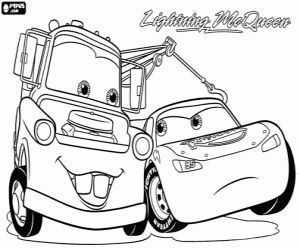 lightning mcqueen and mater coloring pages at getdrawings