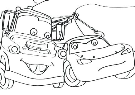 433x305 Cars Lightning With Mater Coloring Page Free Cars