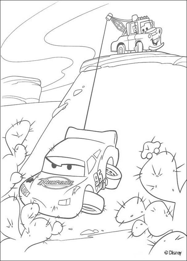 607x850 Coloring Page Of The Famous Disney Movie Cars Color Mater Saves