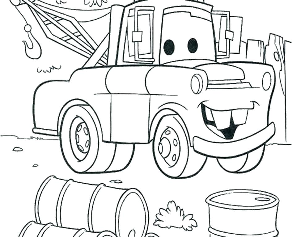 945x768 Lightning Mcqueen Coloring Page Mater Coloring Pages Stock