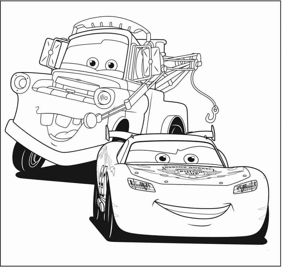 940x891 Lightning Mcqueen From Cars Coloring Page Free Printable