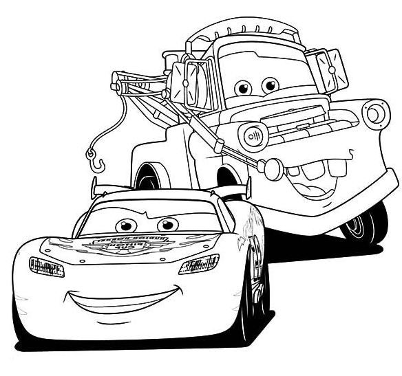584x547 Lightning Mcqueen Coloring Pages Disney's Cars Coloring Sheets