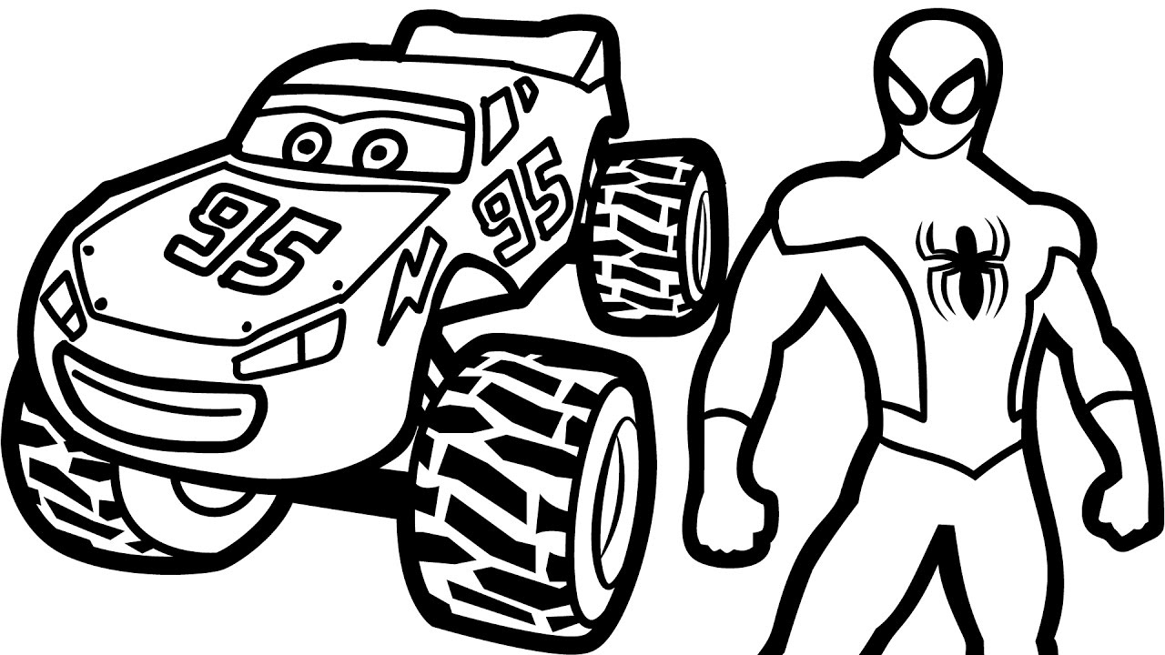 1280x720 Lightning Mcqueen Coloring Pages From Cars P Unknown