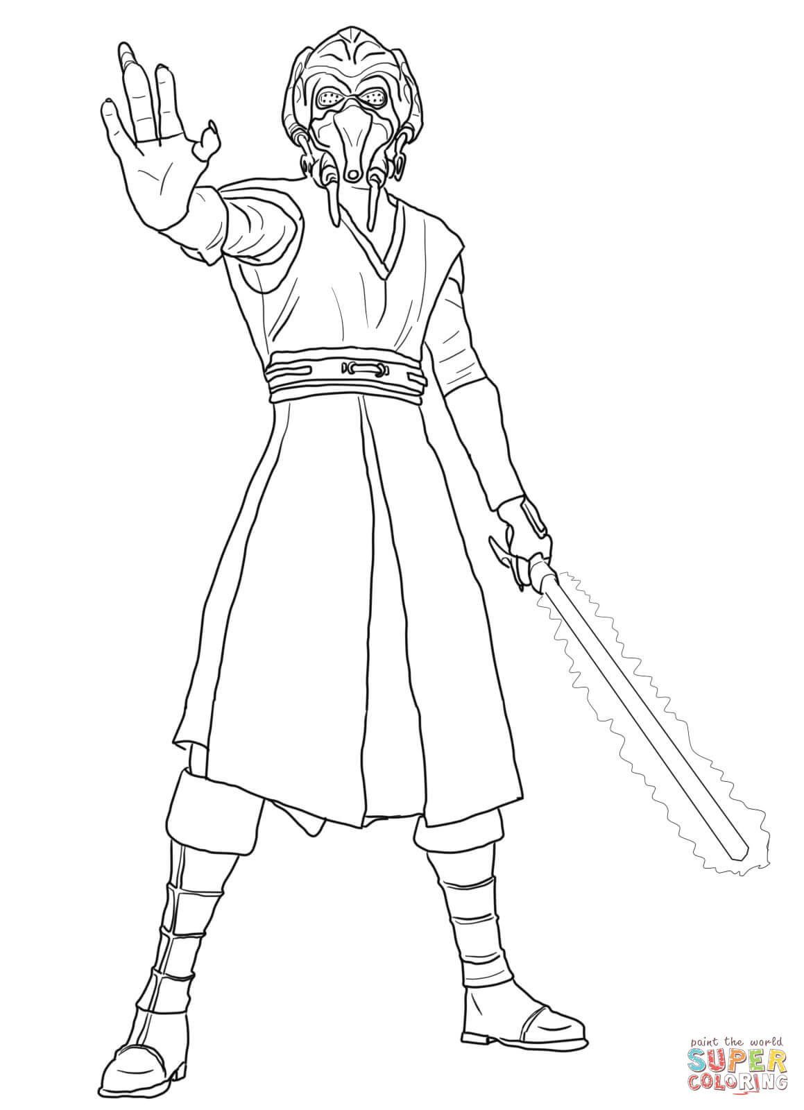 Lightsaber Coloring Page At GetDrawings