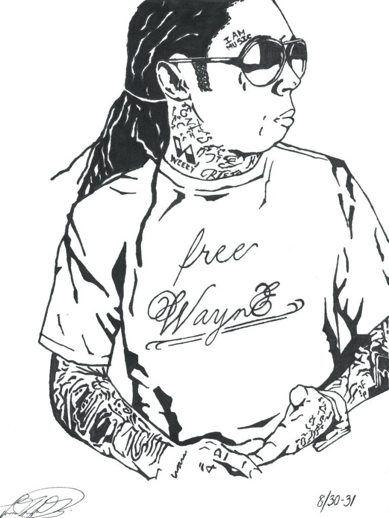 768x1024 Lil Wayne Coloring Pages