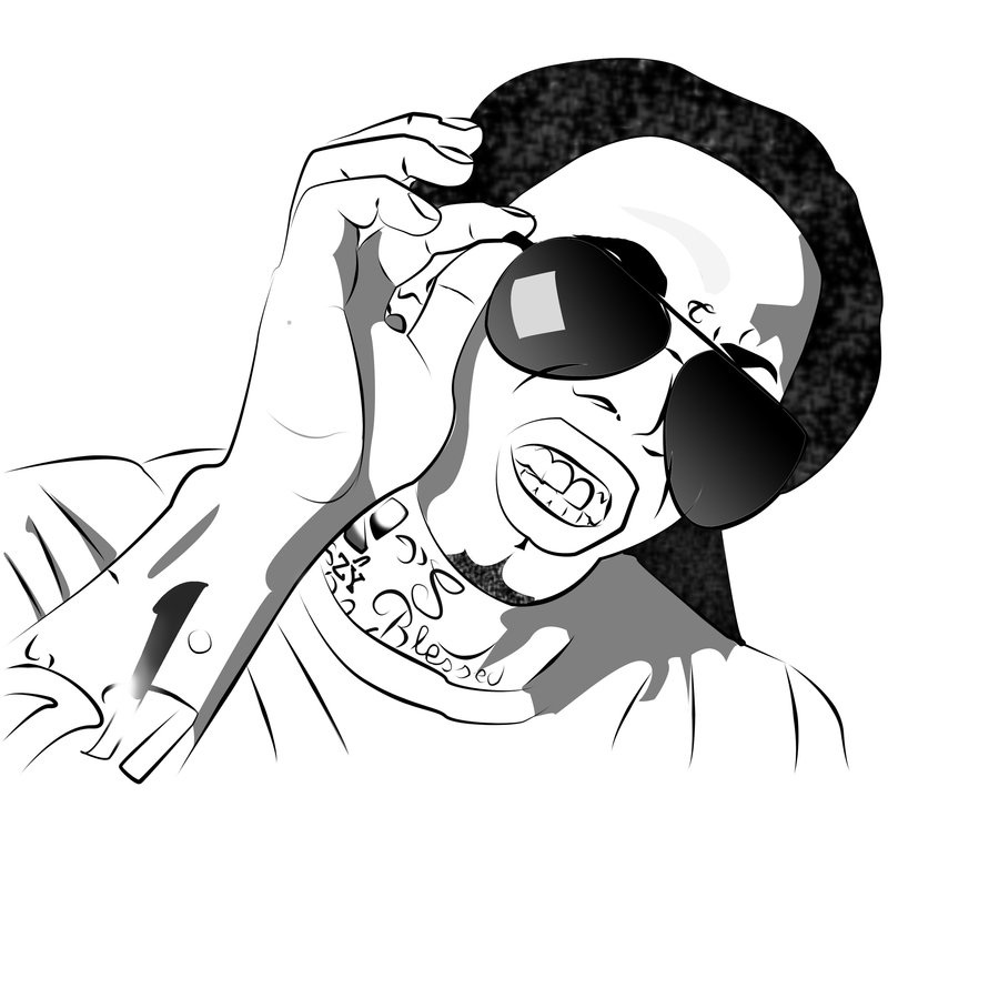 900x900 Inspiring Lil Wayne Coloring Pages