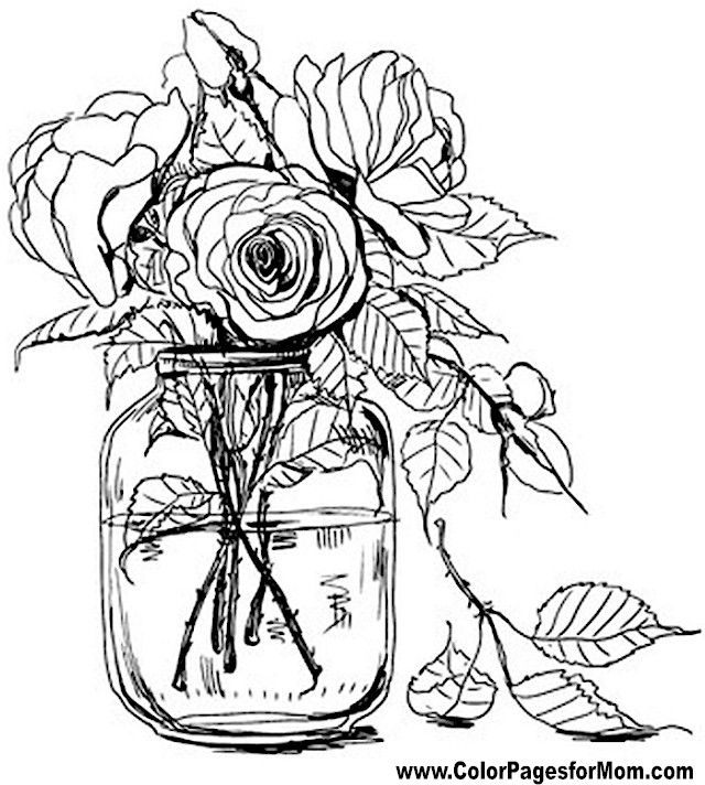 640x712 Popular Coloring Page Flowers Printable In Amusing Flower Coloring