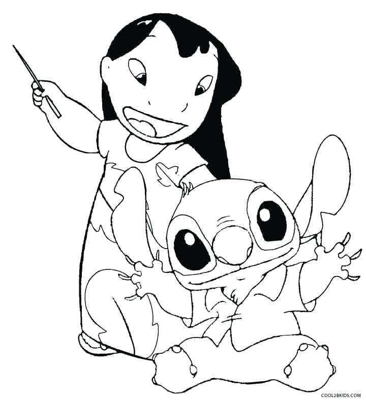 720x787 Lilo And Stitch Coloring Pages Printable For Kids Online Murs
