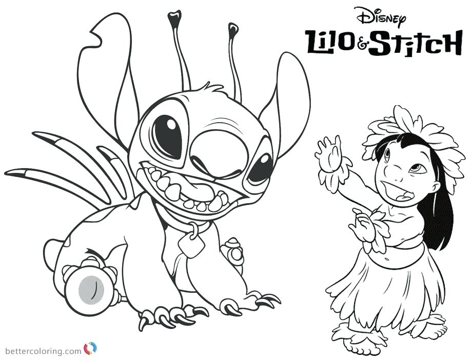 920x700 Lilo And Stitch Experiments Coloring Pages From Cartoon Page