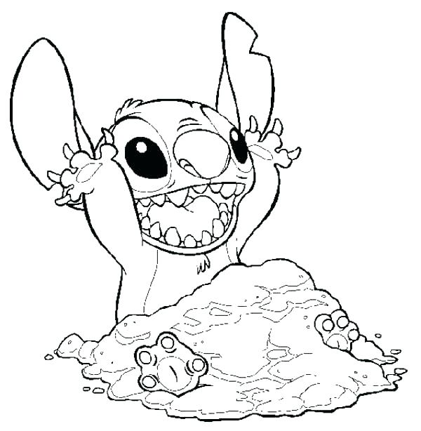 600x614 Lilo Stitch Colouring Pagesnd Coloring To Playing Sands