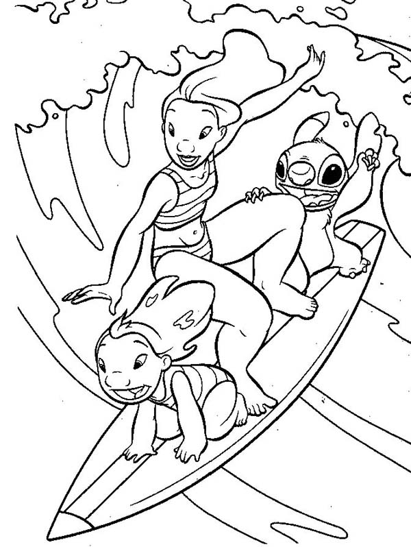 600x798 Lilo And Stitch And Lilo Sister Surfing Together In Lilo Stitch