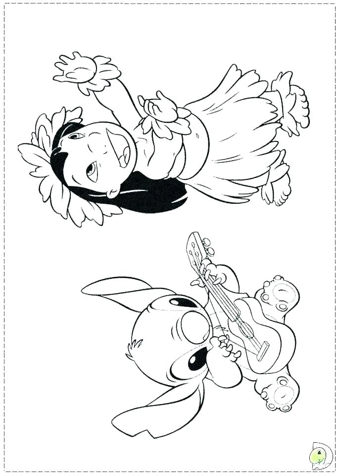 691x960 Lilo And Stitch Surfing Coloring Pages