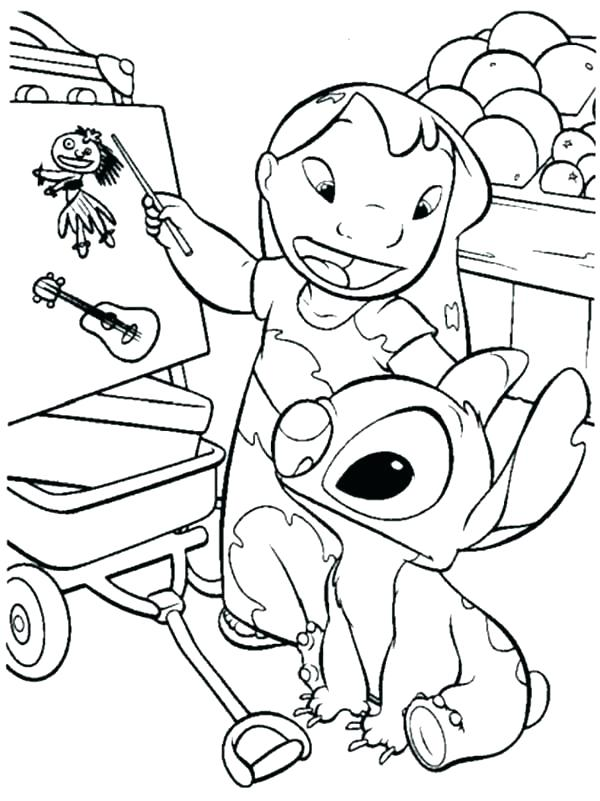600x801 Lilo And Stitch Coloring Book Plus Lilo And Stitch Coloring Pages
