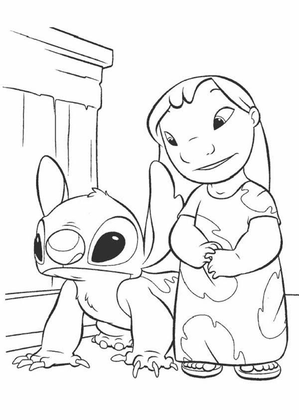 600x841 Lilo Stitch Coloring Page