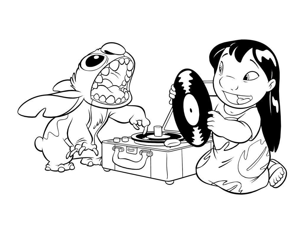 1024x791 Free Printable Lilo And Stitch Coloring Pages For Kids Stitch