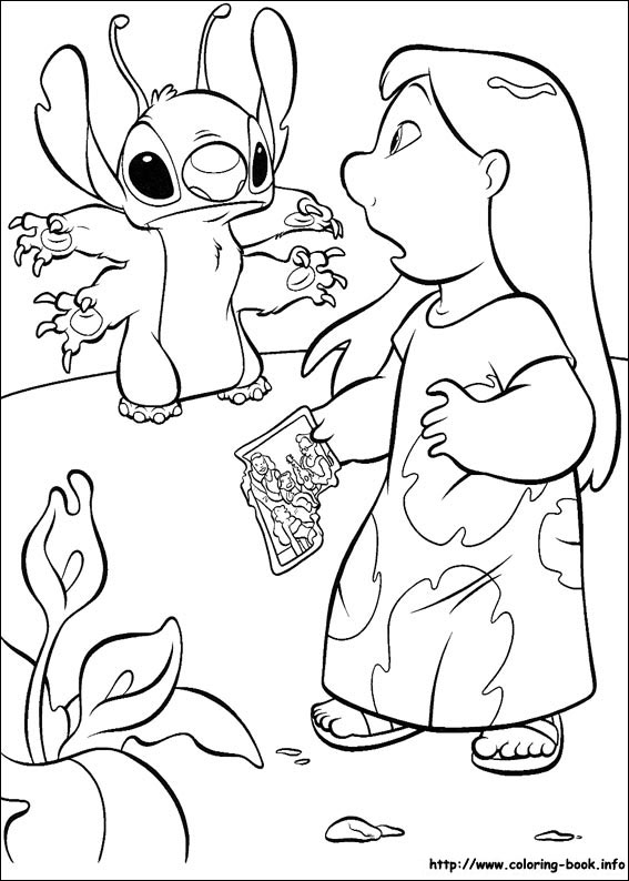567x794 Lilo And Stitch Coloring Pages On Coloring