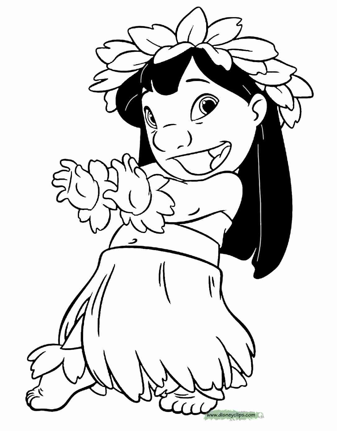 1087x1389 Best Lilo And Stitch Coloring Pages For Free Coloring Book