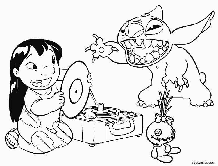 750x572 Printable Lilo And Stitch Coloring Pages For Kids