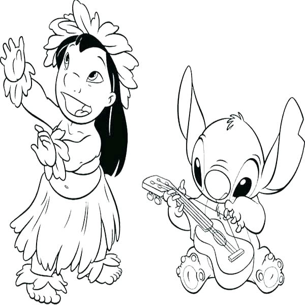 600x600 Lilo And Stitch Coloring And Lilo Coloring Pages Lilo Stitch