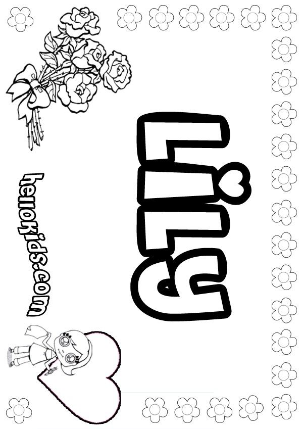 600x849 Lily Coloring Pages