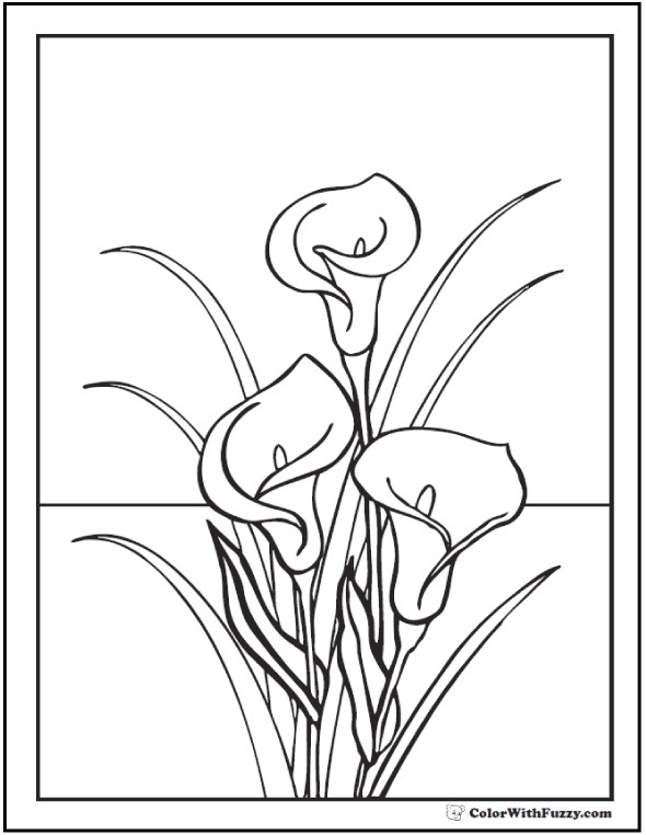 590x762 Easter Lilies Coloring Page Crayola Com Colouring Pages For Kids