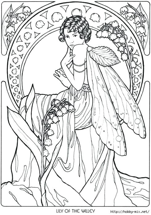 490x699 Lily Of The Valley Coloring Page Lily Of The Valley Fairy Fantasy