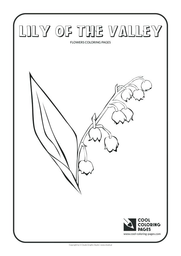618x874 Lily Of The Valley Coloring Page S Lily Of The Valley Coloring