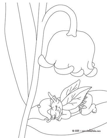 366x470 Lily Of The Valley And Fairy Coloring Page Perfect Coloring Sheet
