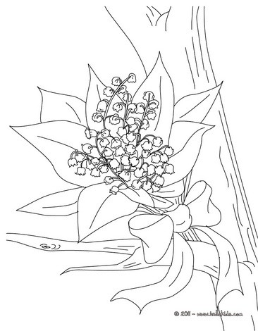 366x470 Lily Of The Valley Basket Coloring Pages