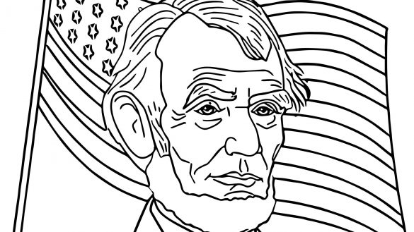 585x329 Abraham Lincoln Coloring Pages Freecolorngpages Co