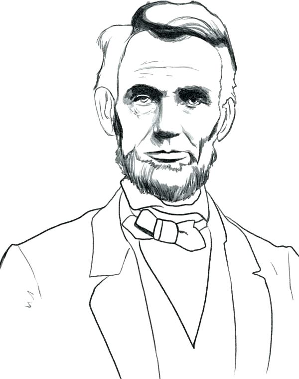 600x760 Abraham Lincoln Coloring Pages Printable Coloring Pages Gods