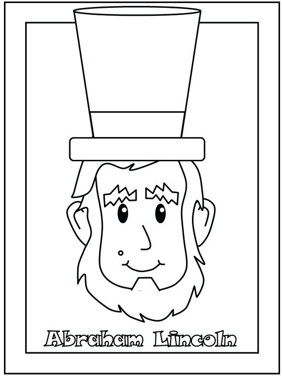 570x760 President Lincoln Coloring Pages