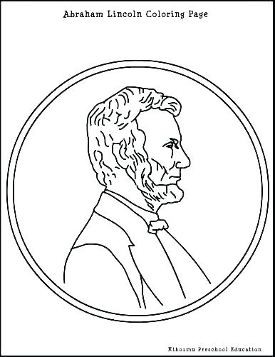 386x500 Abraham Lincoln Coloring Sheet